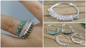 make beaded bracelet wire images Diy bead wire stacked rings jewelry tutorial jpg