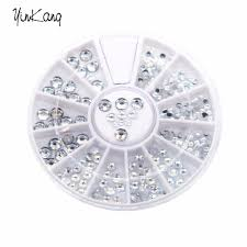 aliexpress com buy 1 5mm silver transparent wheel round glitter