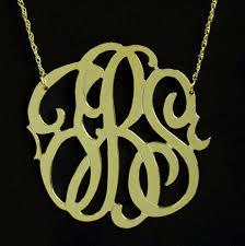 2 inch monogram necklace 1 1 2 inch fancy gold vermeil monogram necklace purple mermaid