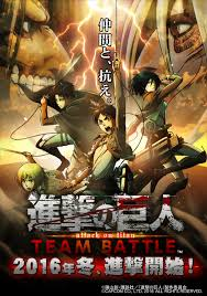 attack on titan capcom to debut attack on titan team battle arcade game at jaepo