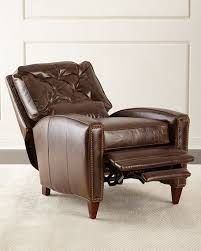 Brown Leather Recliner Hudson Tufted Leather Recliner Brown