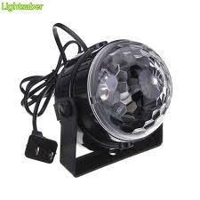 mini disco ball light 3w dj light rgb color changing sound actived crystal magic mini