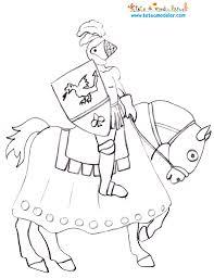 sélection de dessins de coloriage chevalier à imprimer sur