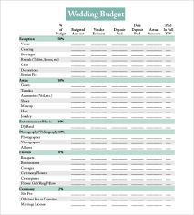 wedding budget planner 22 wedding budget templates free sle exle format