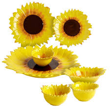 Sunflower Canisters For Kitchen Sunflower Ceramic Dinnerware Collection Sunflowers Sunflower