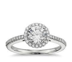 sapphire studios black moissanite white classic halo diamond engagement ring in 14k white gold 1 4 ct tw