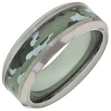 Mens Hunting Wedding Rings by Mens Camo Wedding Band In Tungsten
