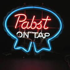 cheap light up beer signs vintage pabst on tap neon sign 1979 works blue ribbon beer pbr man cave