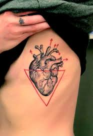 2 anatomical heart tattoo on siderib