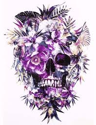color skull floral temporary tempotats