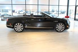 bentley continental 2016 black 2016 bentley continental gt v8 convertible stock 6nc055369 for