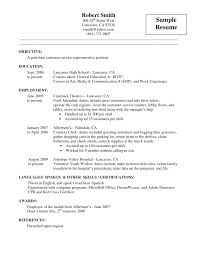 Objective In Resume For Customer Service Representative Office Resume Objective Resume Peppapp
