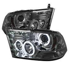 halo headlights for dodge ram 1500 amazon com spyder auto pro yd dr09 ccfl sm dodge ram 1500 smoke
