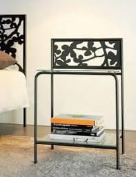 bedside table with 2 shelves hanging in metal idfdesign