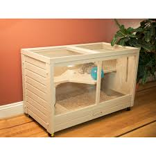 Pet Hutch Features Habitat Includes Hay Feeder And Water Bottle As Shown
