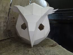 owl mask halloween make your own owl mask bird mask from cardboard instant