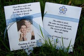 wedding seed packets use these 10 personalized seed packets to make a statement at your