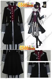 Butler Halloween Costume Black Butler Kuroshitsuji Undertaker Cosplay Costume Hat Ver 2