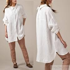 white linen shirts long sleeve oversize womens linen dresses plus size linen clothing buttons back4 jpg