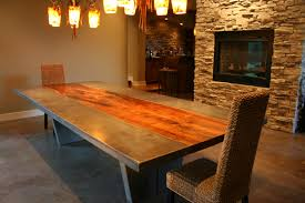 Dining Room Table Top Protectors Beautiful Concrete Dining Room Table Photos Rugoingmyway Us