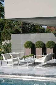 tall outdoor planters patio modern with lighting contemporary