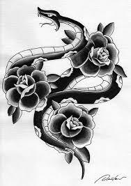 snake n roses ink by nastika on deviantart