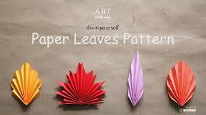 diy paper leaves pattern youtube
