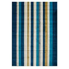 Modern Blue Rug Modern Striped Teal Blue Rugs Havana Kukoon