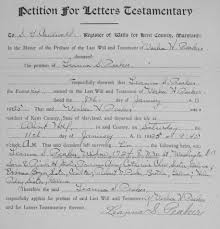 writing paper for letters probate records petition for letters