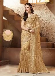 bige color beige color bridal saree