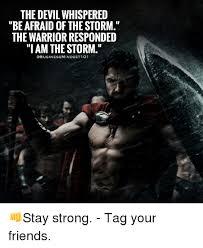 Storm Meme - the devil whispered be afraid of the storm the warrior responded i