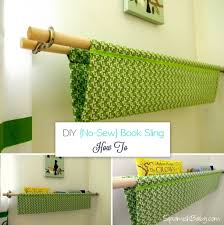 Easy No Sew Curtains Diy No Sew Book Sling