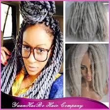 grey marley braiding hair stock new selling 20 fold silver grey 100 kanekalon kinky twist