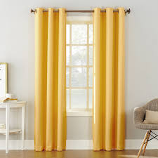 Yellow And Grey Curtain Panels Yellow Tegan Window Curtain Panel 84 In At Home At Home