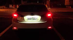 lexus ct200h license plate bulb lexus ct200h 後保桿led 燈part ii 夜晚測試 youtube