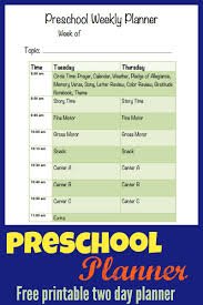 printable preschool planner more excellent me