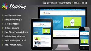 sterling html5 responsive web template website templates and