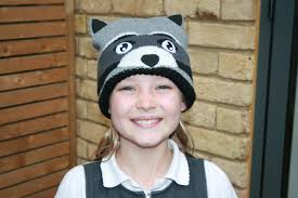 Knit Cap With Led Light Kids Bright Eyes Animal Hats With Strong Led Light Loubilou