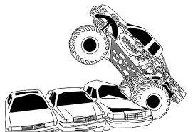 monster truck monster truck running cars coloring