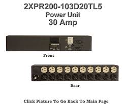 2xpr200 103d20tl5 rackmount power strip twist lock plug
