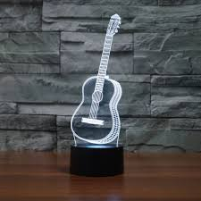 3d Lamps Amazon 3d Illusion Lamp Jawell Night Light Guitar 7 Changing Colors Touch