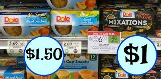 dole fruit snacks new dole fruit coupon fruit bowls as low as 1 at publix