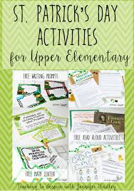 st patrick u0027s day activities for upper elementary teaching to