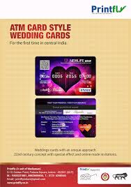 Invitation Cards Of Marriage Atm Card Style Wedding Invitation Cards Printing Services In Indore