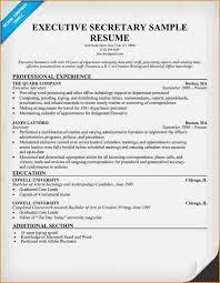 Executive Secretary Resume Sample by Sample Resume Administrative Secretary Resume Ixiplay Free