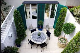 turn a terrace into a french courtyard the labyrinth garden