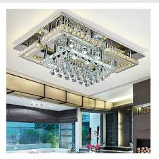 Crystal Ceiling Mount Light Fixture by Modern Led Rectangular Flush Mount Crystal Ceiling Lights Fixture