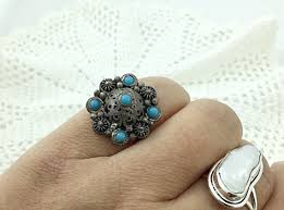 old rings silver images Free shipping coupon on vintage turkish etruscan style silver ring jpg
