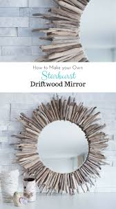 How To Make An Easy DIY Starburst Driftwood Mirror Round Mirrors - Home decorative mirrors