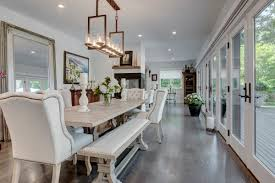Dining Room Ideas In Private House by A Wall Of French Doors In This Modern East Hampton Dining Room